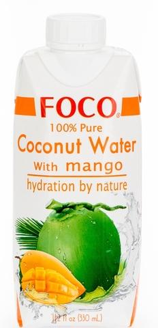 FOCO кокосовая вода с соком манго 330 мл