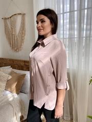 Глем. Стильна блуза великих розмірів. Бежевий