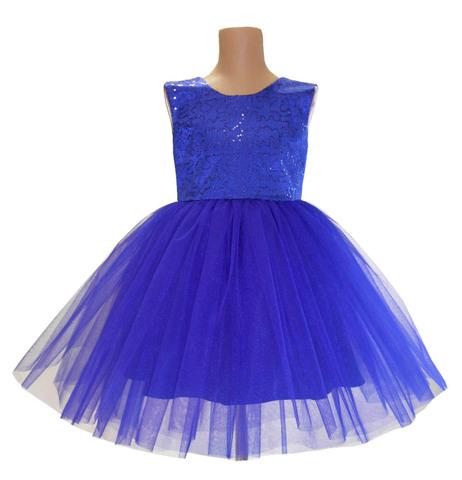 Платье синее с пайетками