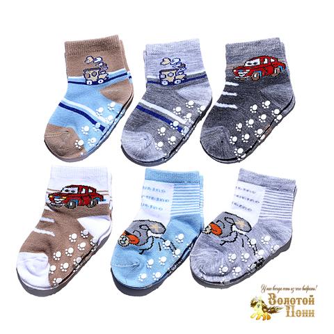 Носочки малышам с тормозами (0-12) 180516-Р3583-2
