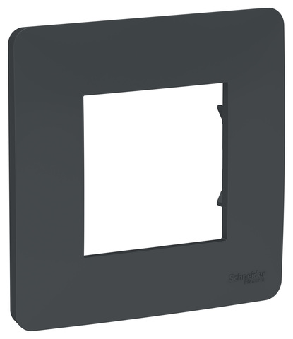Рамка на 1 пост. Цвет Антрацит. Schneider Electric Unica Studio. NU200254