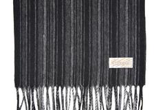 Шерстяной шарф, мужской серо-черный 30381