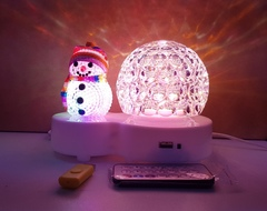 Новогодний светильник с музыкальной колонкой