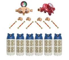 Газобаллонная система GOK (премиум) для подключения 6 композитных баллонов