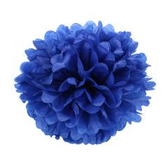 Помпон из бумаги 30 см темно-синий