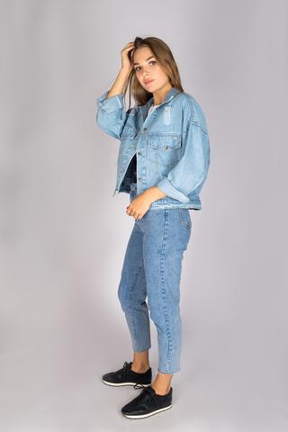 Джинсовая куртка с вышивкой на спине купить