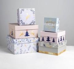 Набор подарочных коробок 6 в 1 «Нежность», 10 × 10 × 6 - 20 × 20 × 11 см, 1 набор.