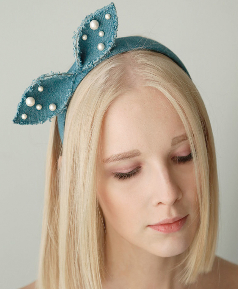 Ободок Denim Alice Bow Headband
