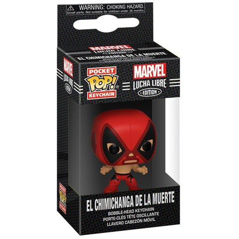 Funko Pocket POP! Keychain: Marvel: Luchadores: Deadpool || Брелок Дэдпул Лучадор
