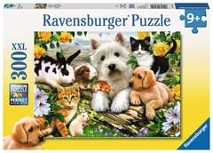 Puzzle Happy Animal Buddies 300 pcs