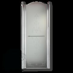 Душевая дверь Migliore Diadema ML.DDM-22.581.TR.CR 80xH195 см, стекло прозрачное/декор R (DX)