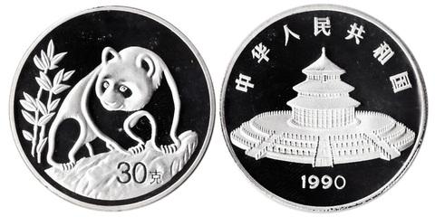 Жетон Китайская панда. Китай. 1990 год. PROOF