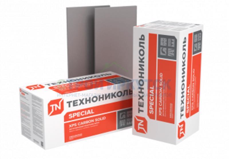 Экструдированный пенополистирол Экструдированный пенополистирол (XPS) ТехноНИКОЛЬ Carbon Solid 500 1180х580х50 мм L-кромка тип А d45e343d6485f22edbf98c25e644f3f6