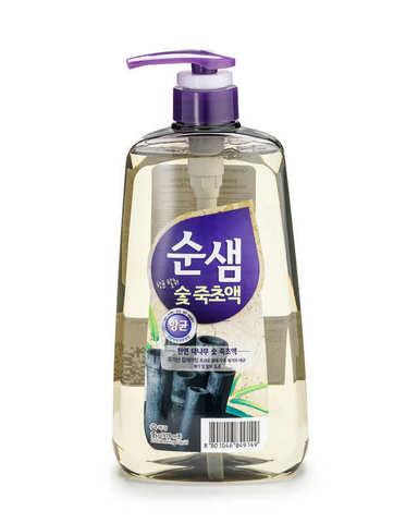Aekyung Soonsaem Bamboo Charoal Средство для мытья посуды Бамбуковый уголь 978 мл с помопой-дозаторо