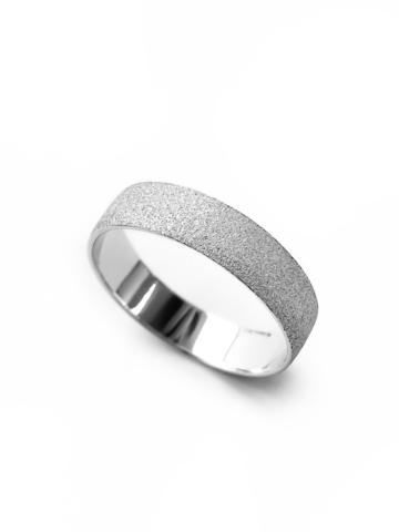 Серебряное матовое кольцо