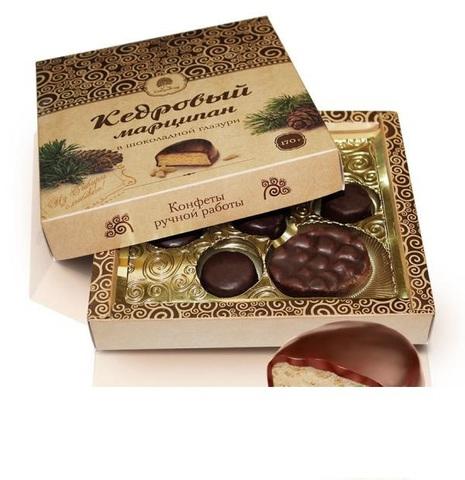 Конфеты марципан кедровый, Сибирский Кедр, в шоколаде, 170 г