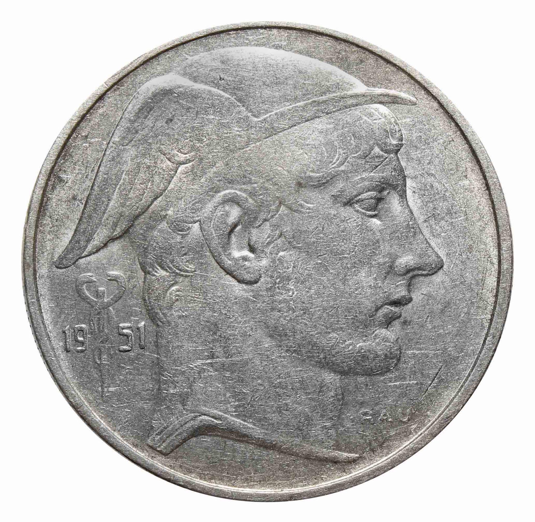20 франков 1951. Бельгия (XF)