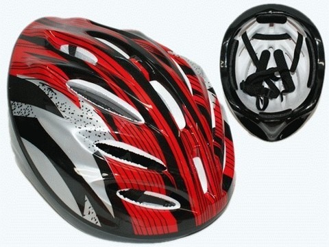Защитный шлем для роллеров, велосипедистов. Материал: пластмасса, пенопласт. :(К-11-2):