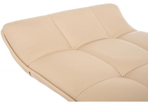 Барный стул Fera бежевый 40*40*64 - 84  Хромированный металл /Бежевый кожзам