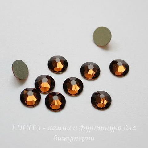 2058 Стразы Сваровски холодной фиксации Smoked Topaz ss12 (3,0-3,2 мм), 10 штук