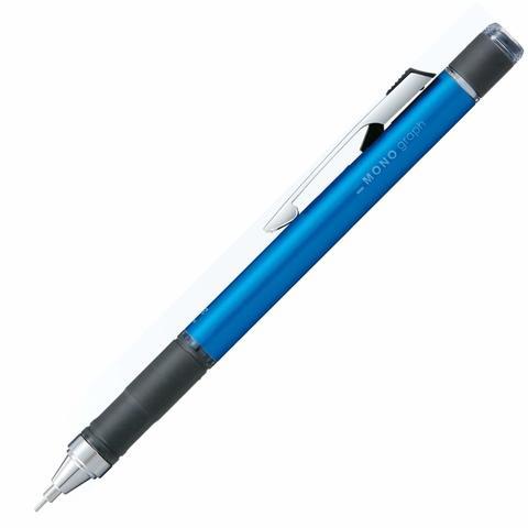 Механический карандаш 0,5 мм Tombow Mono Graph - Grip Model (голубой металлик)