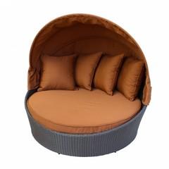 Круглый диван-шезлонг Bali Brown