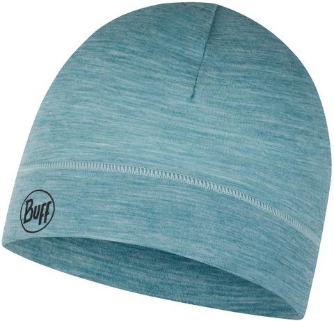 Тонкая шерстяная шапка Buff Hat Wool Iightweight Solid Pool фото 1