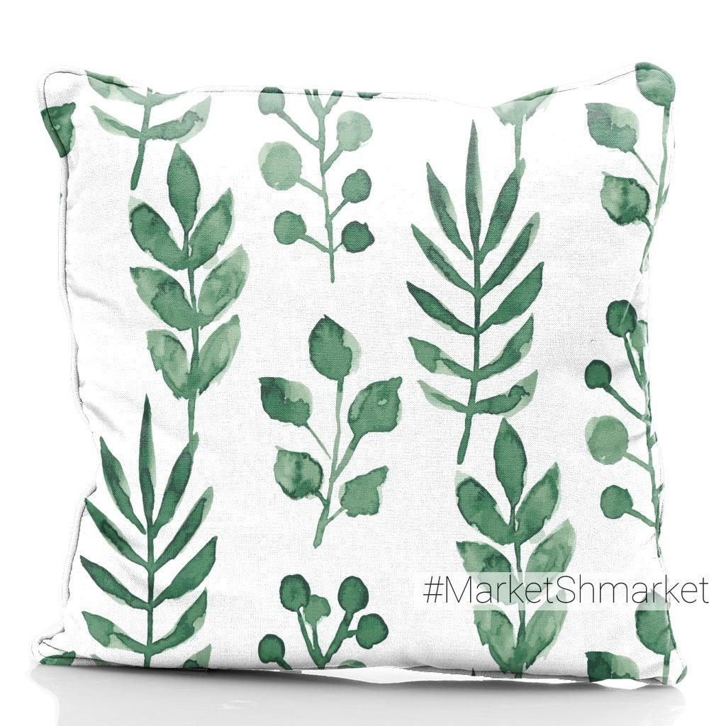 Зеленые листья листочки и веточки