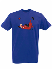 Футболка с принтом мультфильма Король лев (The Lion King, Пумба) синяя 0015