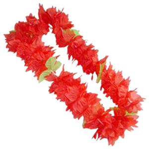 Венок гавайский красный, 50 см