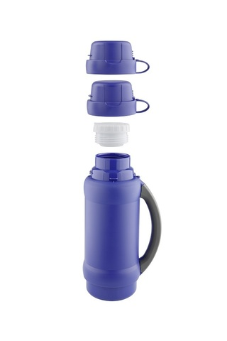 Термос Thermos 34 серия (1 литр) стеклянная колба, синий