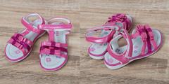 Обувь дет. № 6 Сандали для девочек Бантики Малиновые