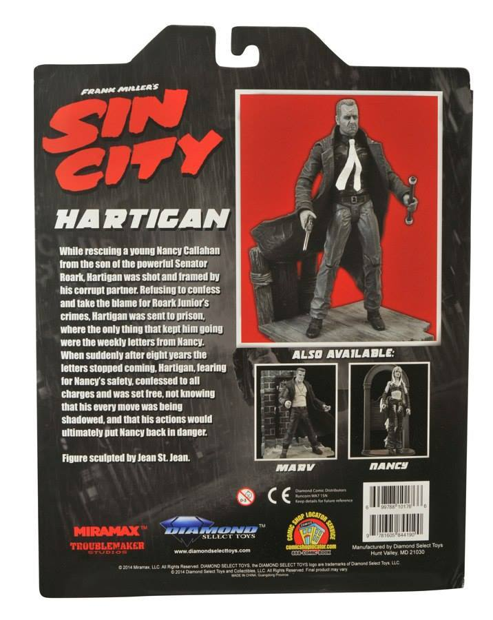 Марвел Селект Город Грехов фигурка Хартиган — Marvel Select Sin City Hartigan