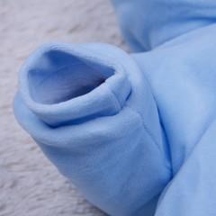 Демисезонный велюровый комбинезон с шапкой Brilliant  (голубой)