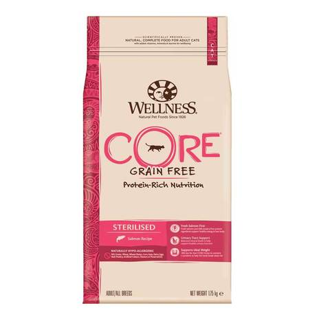 Сухой корм Wellness Core Sterilised с лососем для кастрированных котов и кошек