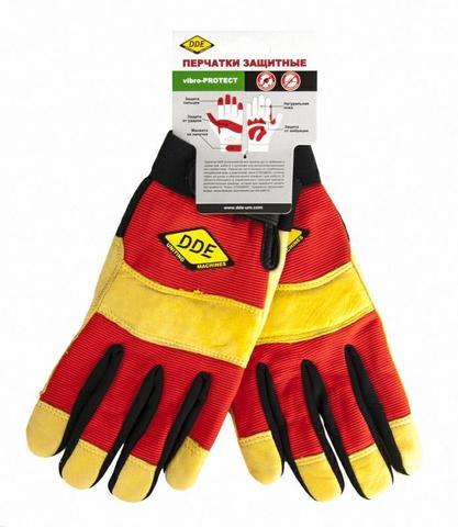 Перчатки DDE vibro-PROTECT  кожа /спандекс,  размер  M (648-519)