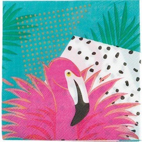 Салфетка Фламинго 25см 12шт/G