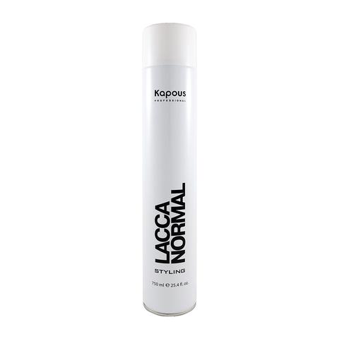 Лак аэрозольный для волос нормальной фиксации Kapous 750 ml.