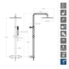 Душевая система с термостатом и тропическим душем для ванны TZAR 345401RM300 - фото №2