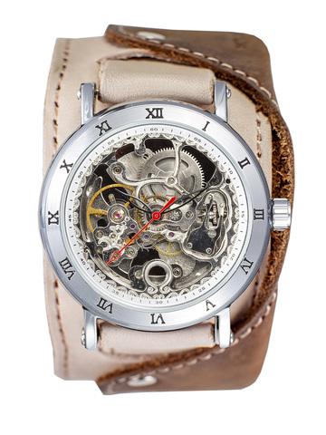 Часы скелетоны мужские механические Cowboy 2.0 YOURTIME