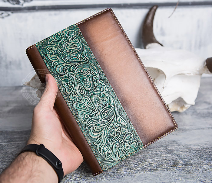 BY05-12-02 Подарочный кожаный ежедневник с рисунком «Шеридан» (формат А5) фото 04