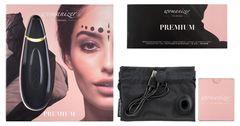 Чёрный бесконтактный клиторальный стимулятор Womanizer Premium -