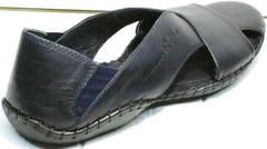 Стильные мужские сандалии с закрытым носком и пяткой Luciano Bellini 76389 Blue.