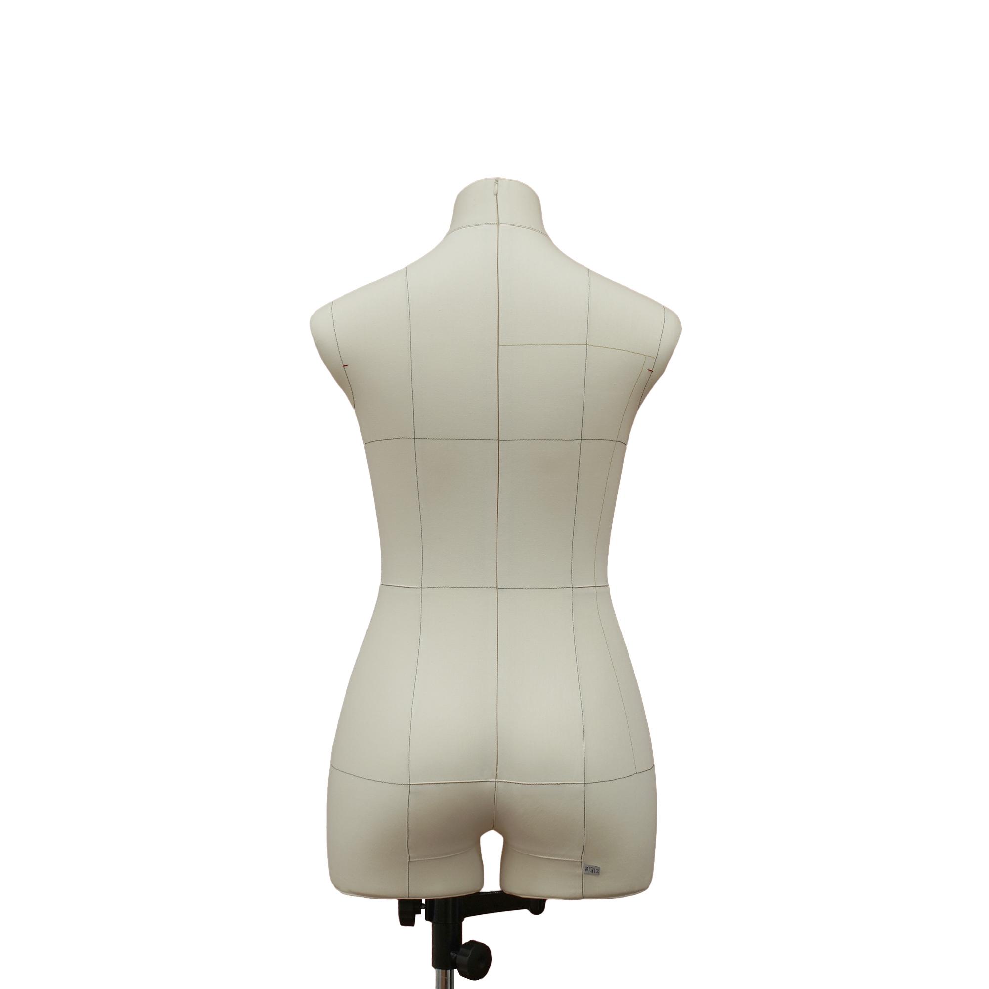 Манекен портновский Моника, комплект Про, размер 44, тип фигуры Песочные часы, бежевыйФото 1