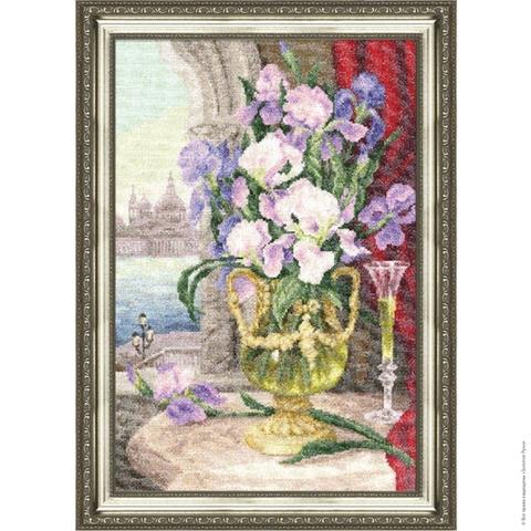 Размер: 35×24 см;¶Канва: Аида кремовая 18;¶Вышивается в 1 нить;¶Количество цветов: 58.