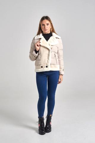 Куртка с широким воротником недорого