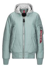 Теплая куртка MA-1 Natus Quilted Silver Blue (Голубая)