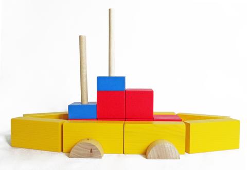 Набор настольный деревянный 55 элементов
