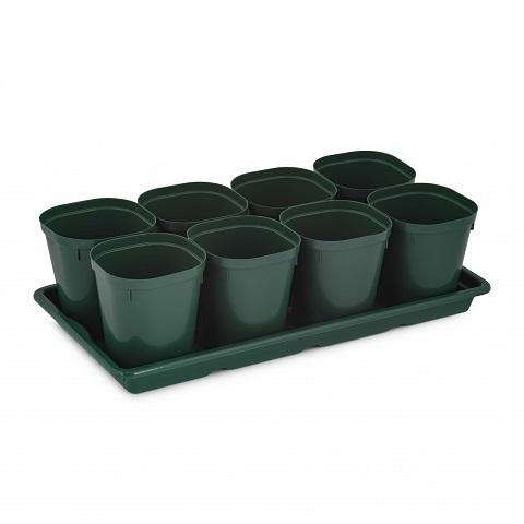 Набор д/рассады (8 стаканов 0,8л)(с поддоном)