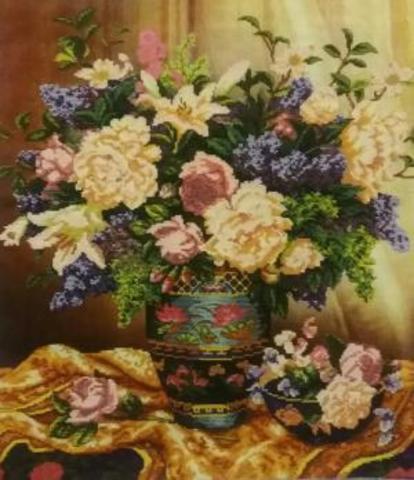 Алмазная Мозаика 40x50 Букет в красивой вазе (арт. TCH8172 )